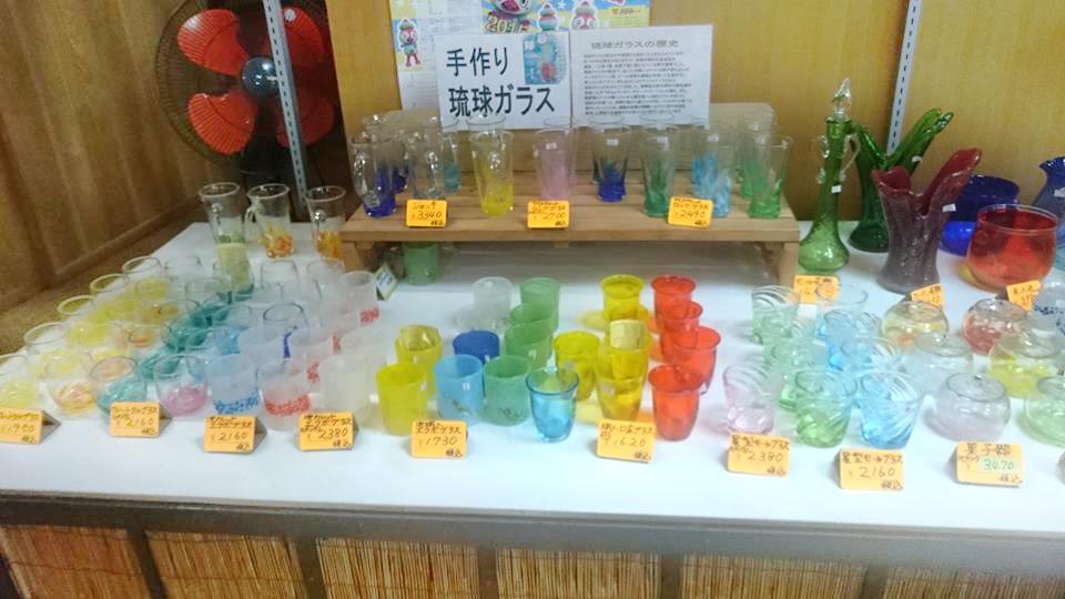 いこいの駅いずみ,沖縄,琉球グラス,お土産